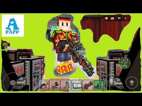 Pixel GUN 3D Мультяшная Игра для Детей Локация-Рождественский Стол