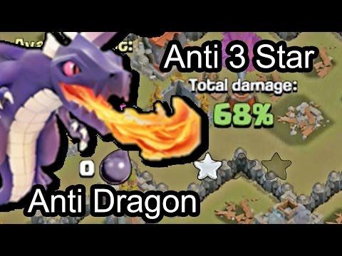 Anti Dragon Clash Of Clans Wn Hall Base