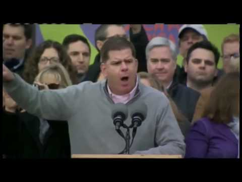 Boston Mayor Marty Walsh gives powerful remarks at Women