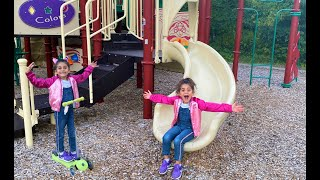 Sally Play at Outdoor Playground Park - Fun For Children