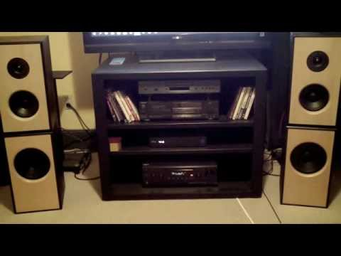 Winslow-Healy/Dayton Cinema Speaker System Playing Natalie Merchant -I May Know The Words HQ Stereo