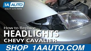 How To Install Replace Headlights 2000-02 Chevy Cavalier