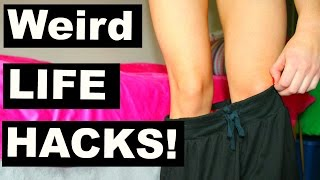 8 WEIRD Life Hacks You'll Really Use! 2016