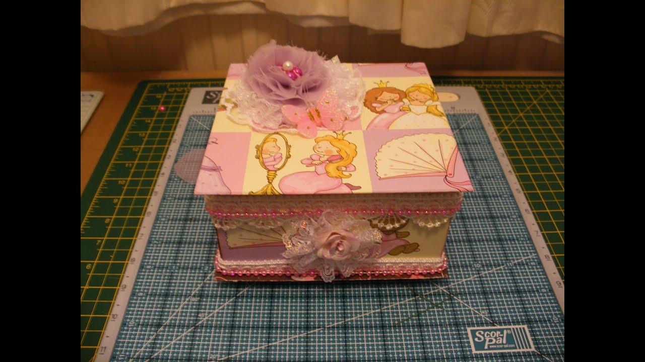 Chipboard mini album and box using prima sweet
