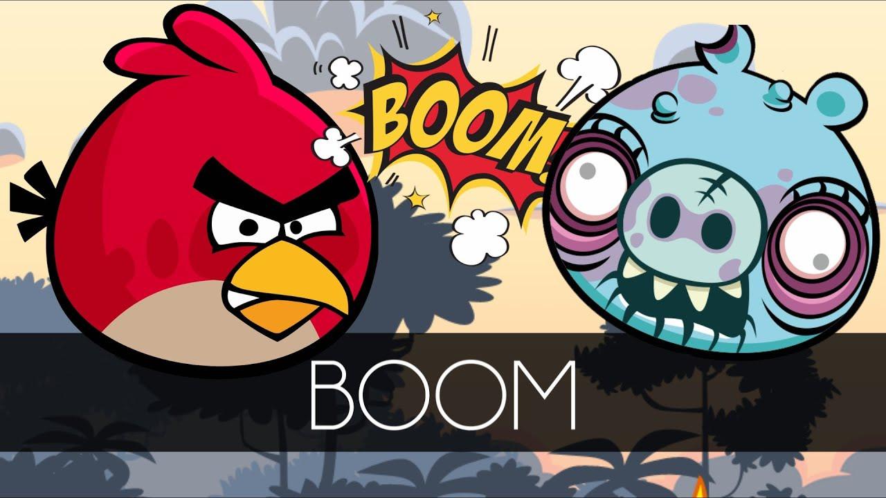 Angry Birds STUNT - CRAZY RACING BIRDS WHEELIE VS BAD PIGGIES