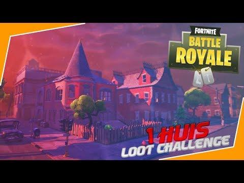 ÉÉN HUIS LOOT CHALLENGE! (Fortnite Battle Royale)