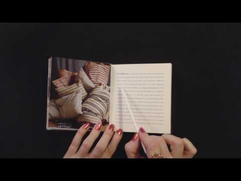 ASMR Semi-Audible Super Soft Whisper ~ Reading Bedding Book w/Pointer