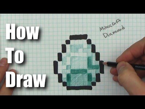 How To Draw Minecraft Diamond