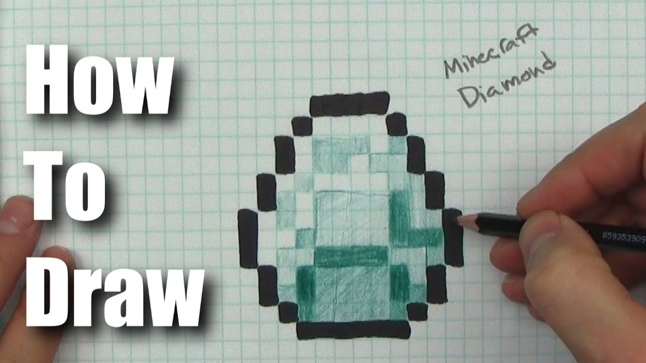 How To Draw A Minecraft Diamond  Step By Step