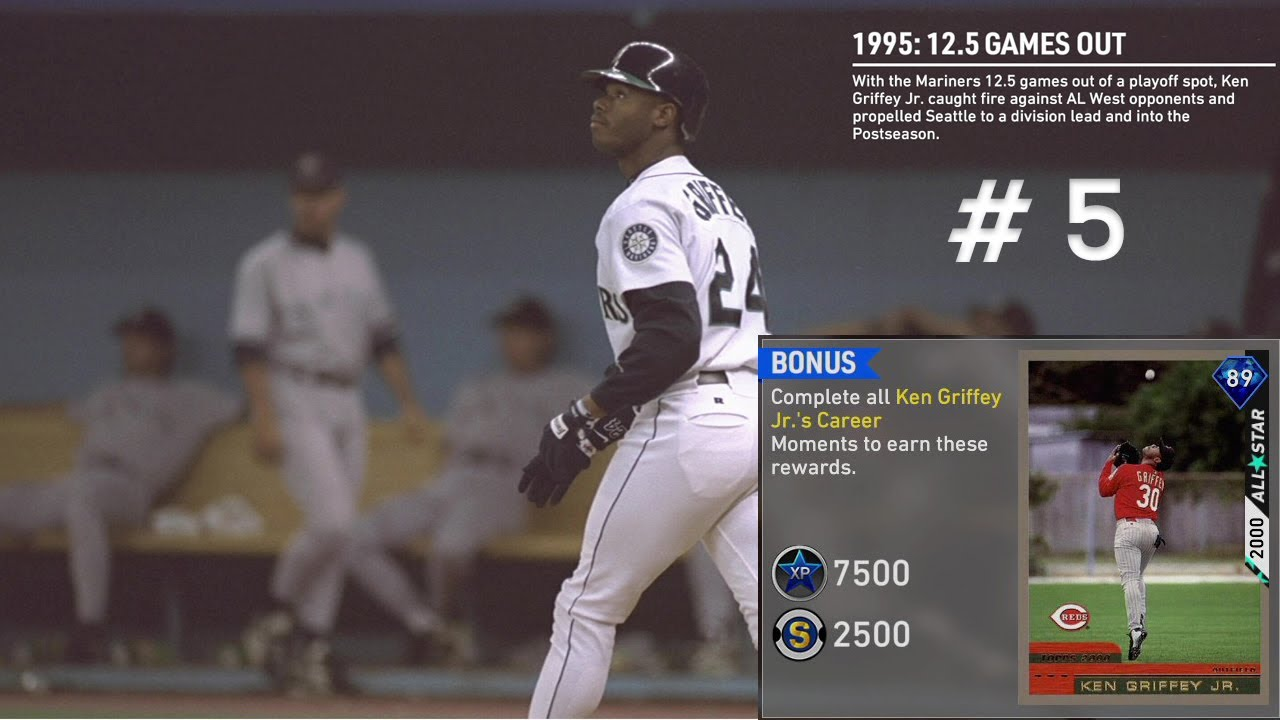 c0fa592c59 MLB THE SHOW 19 MOMENT Ken Griffey Jr.'s #5 (1995: 12.5 GAMES OUT ...
