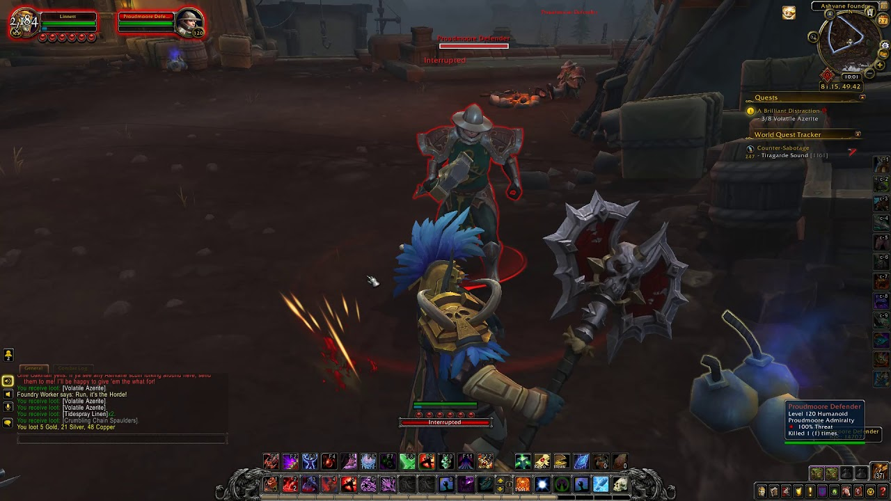 A Brilliant Distraction Quest ID 54177 Playthrough WoW