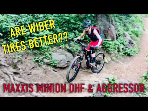 Are Wider Tires Better? Maxxis 2.5'' Minion DHF & Aggressor | Sprocket Girl Women's Mountain Biking