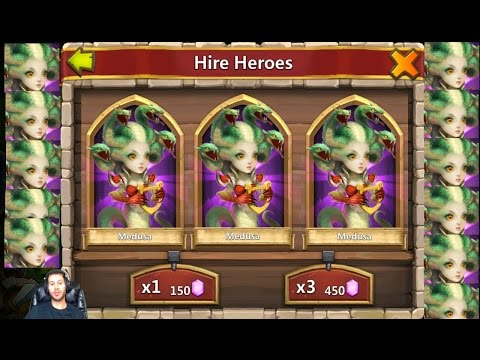 Rolling 72000 Gems For Trixie Treat Attracted To Medusa Castle Clash