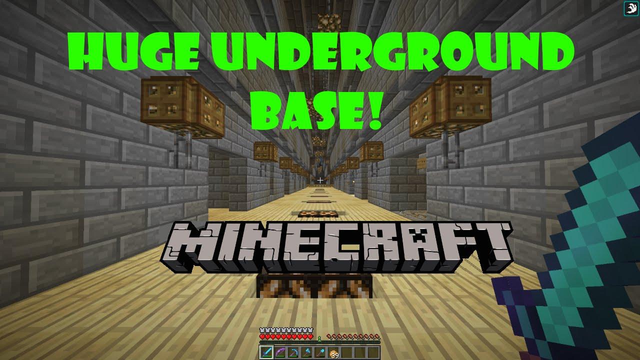 Minecraft Huge Underground Base Tour Youtube