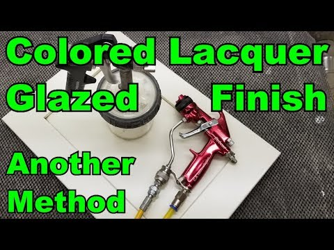 Colored Lacquer Glazed Finish With A Cleaner Look