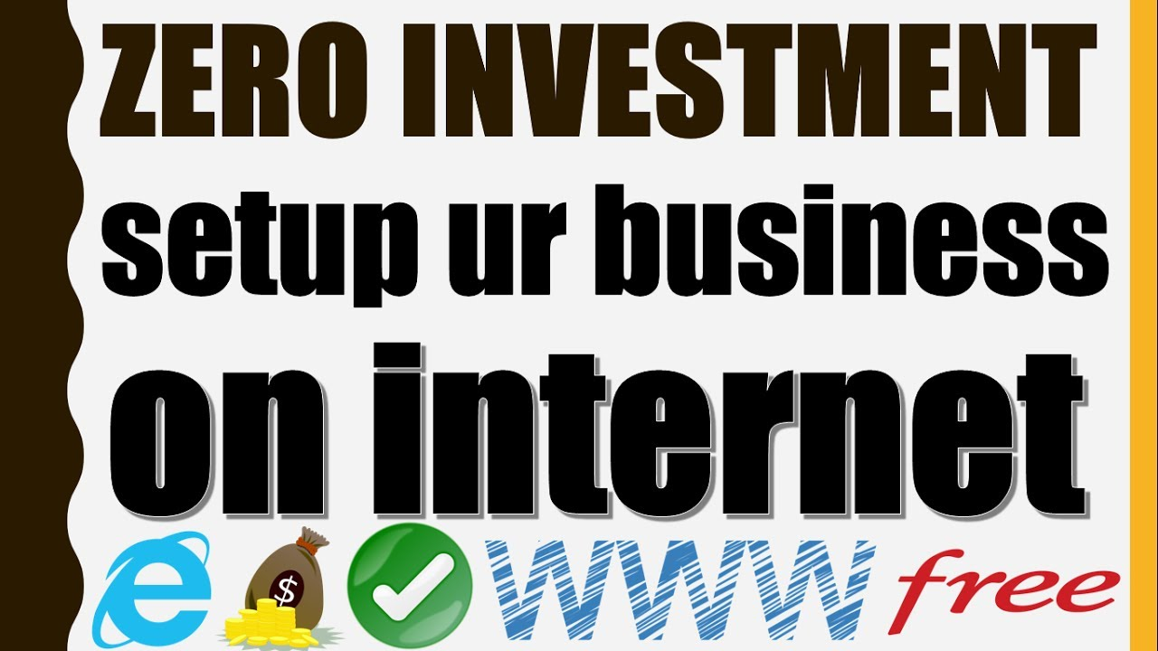 {HINDI} Zero investment how to setup your business on internet || free online marketing strategies ✔