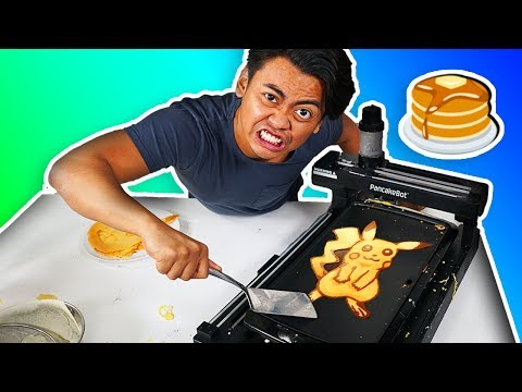 I Tried Using Pancake Art Robot For The First Time!