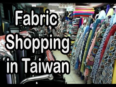 Come fabric shopping with me (a handmade indie brand designer) at Yongle Market in Taiwan