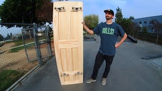 TURNING A FULL SIZE DOOR INTO A SKATEBOARD SKATE EVERYTHING EP 15