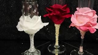 DIY Como decorar copas para boda or quinceñera! BIEN FACIL!