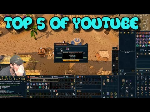 Top 5- BEST CLUE SCROLL REWARD REACTIONS ON YOUTUBE