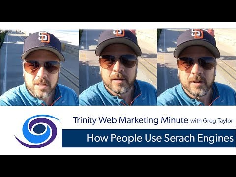 How Do People Use Search Engines : Trinity Web Minute