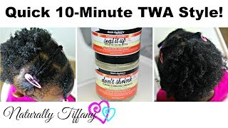 Styling Maiah's TWA: Quick 10 Minute Style! (Kids Natural Hair Care)