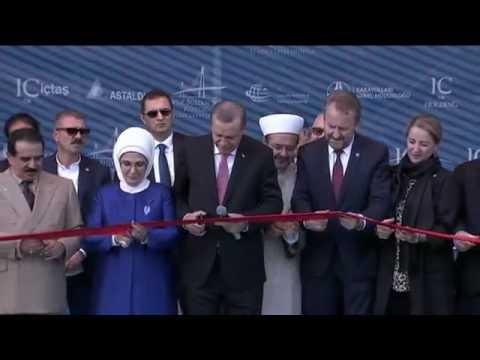 Turkey President Tayyip Erdogan opens bridge between continents Yavuz Sultan Selim Bridge