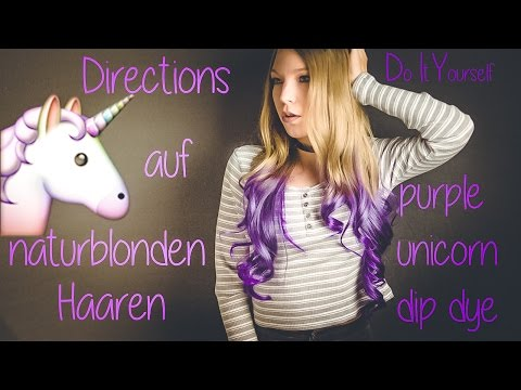 Unicorn Hair // DIY Lila Dip Dye mit Directions