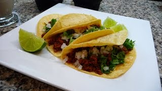 Adobada Tacos, Green Salsa with Avocado, Mexican recipes for Cinco de Mayo!