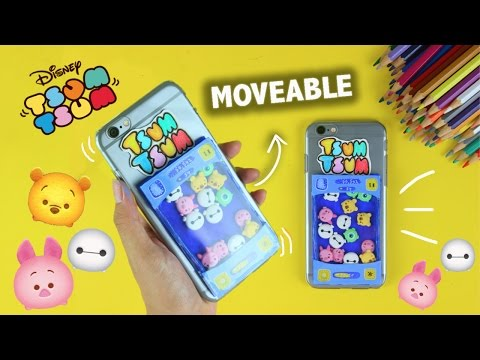 DIY MOVEABLE Clay Tsum Tsum Phone Case !