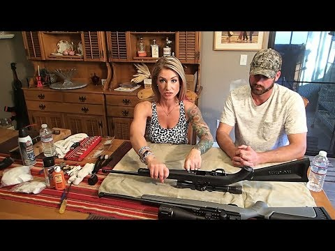 Syd shows Matt how to tear down and clean his Ruger 10/22 at The Crouch Ranch