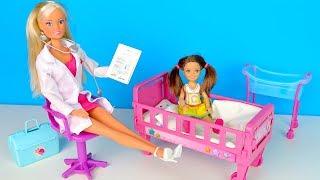 Безкоштовний Сир або Як Катя в Лікарню Потрапила Мультик #Барбі Школа Ляльки Іграшки для дівчаток