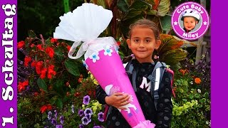 Miley An Ihrem Ersten Schultag Schulanfang Schultüte Schule 1 Klasse Kinderkanal