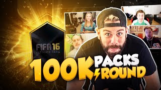 100K LIGHTNING ROUNDS with MATTHDGAMER, ZWEBACKHD, NEPENTHEZ and ITSFANGS - FIFA 16 PACK OPENING