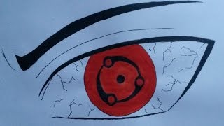 HOW TO DRAW EYES SHARINGAN MADARA MANGEKYOU SHARINGAN