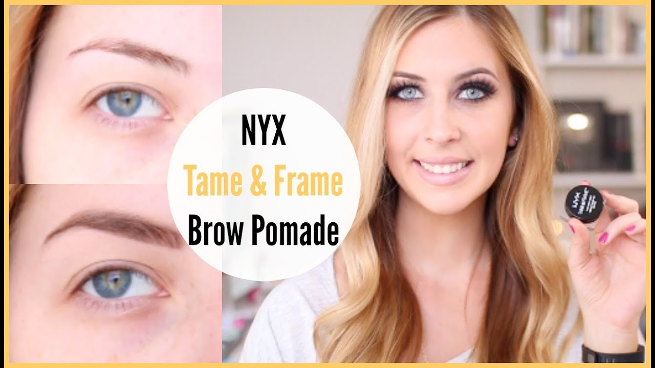 Nyx Tame Amp Frame Brow Pomade Review Youtube