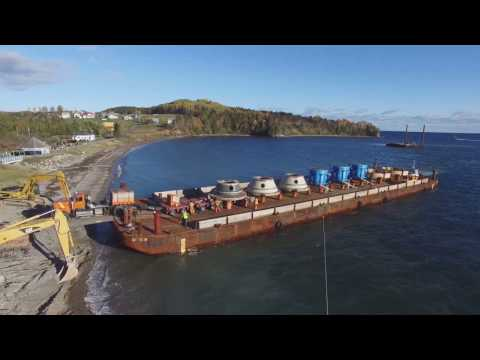 Bellemare Transport – Heavy Haul Barge Load-Out