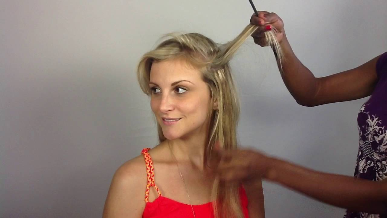 How To Apply Clip In Hair Extensions For Fine Thin Hair Youtube