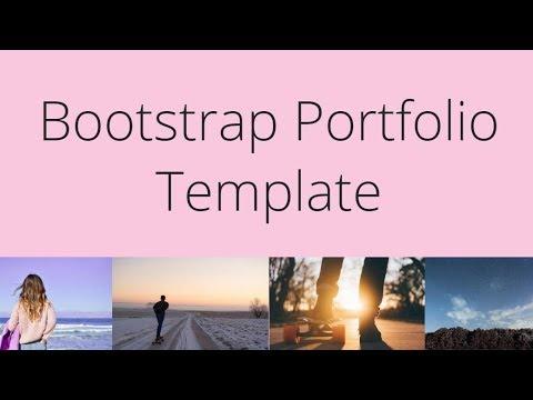Bootstrap Portfolio Template - Free HTML Website Templates