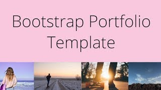 Bootstrap Portfolio Template - Free HTML Website Templates