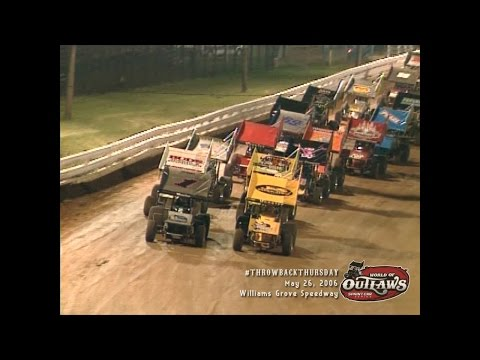 #ThrowbackThursday: World of Outlaws Sprint Cars Williams Grove Speedway May 26, 2006