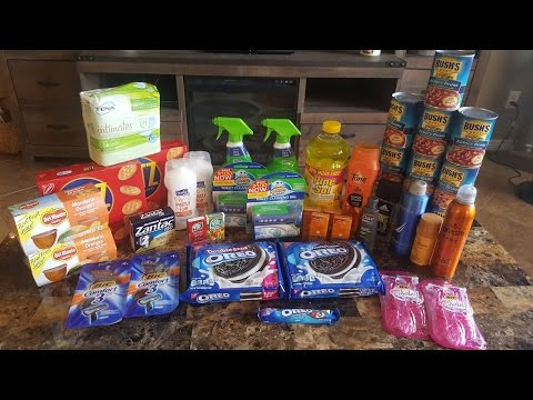 Walmart coupon haul! $114.57 worth of products for $9.74.  42 ITEMS IN THIS TRANSACTION!