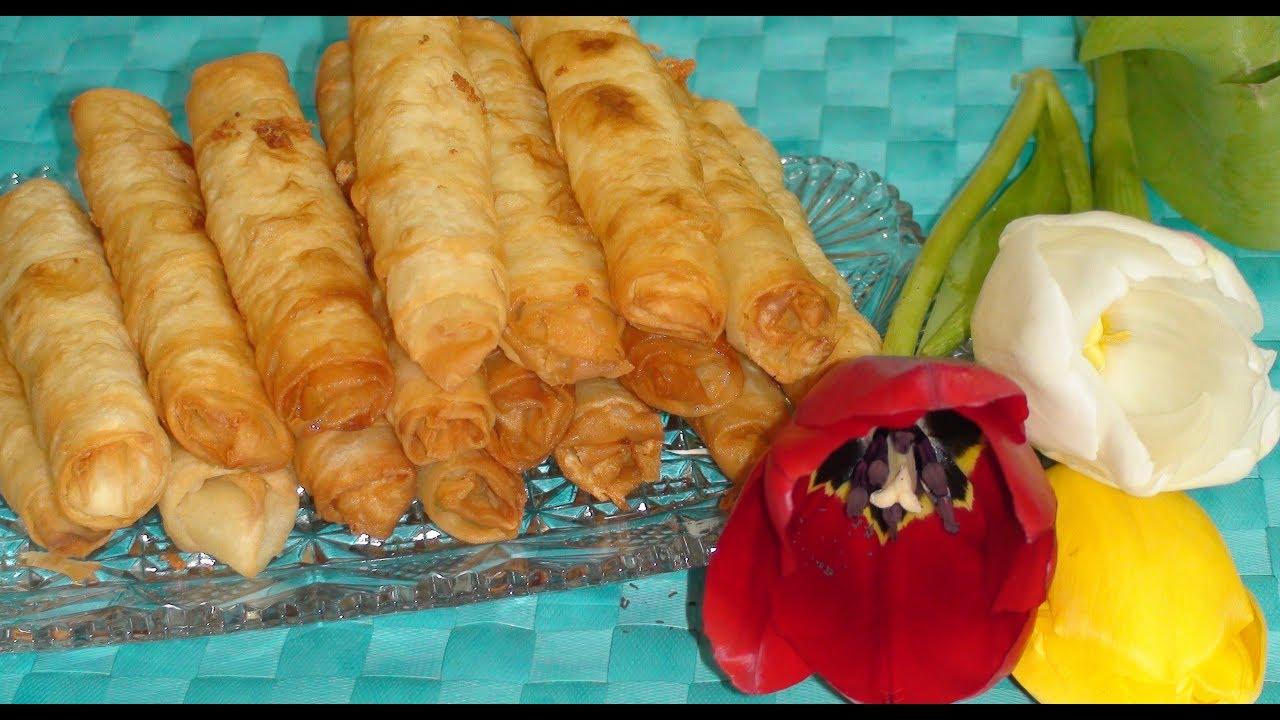 Сигара бöрек. Турецкая кухня. Быстрого приготовления. The cigar borek.Turkish cuisine. Fast cooking