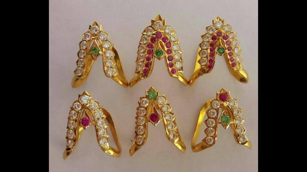 Latest Gold Vanki Type Finger Ring Designs - YouTube