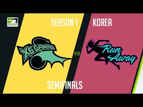 X6-Gaming vs RunAway (Part 1) | OWC 2018 Season 1: Korea [Semifinals]