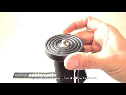 Monopie de fibra de carbono de 440 a 1640 mm distribuido por CABLEMATIC ®