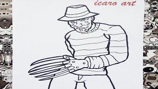 Como dibujar fredy kruger | how to draw fredy kruger
