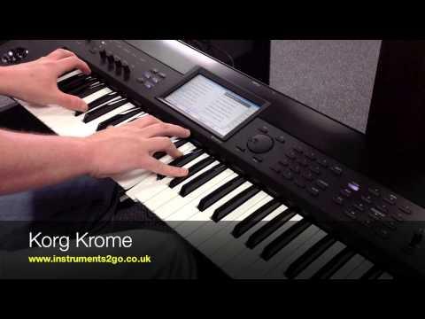 Korg KROSS Vs Korg KROME Keyboard Demo