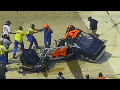 Mike Harmon's Car Torn Apart in Crash at Bristol.  O...